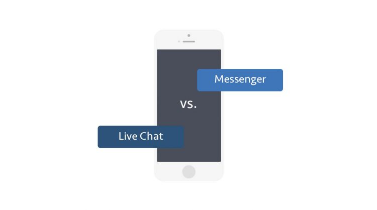 Messaging versus Live-Chat
