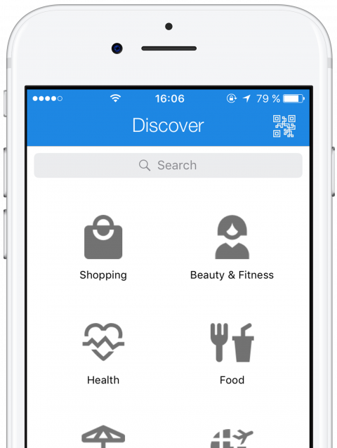 Search for different business types and get in contact with thismo messenger app